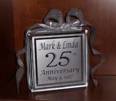 Anniversary Glass Block $35 Xpressables.com Perfect Anniversary ...