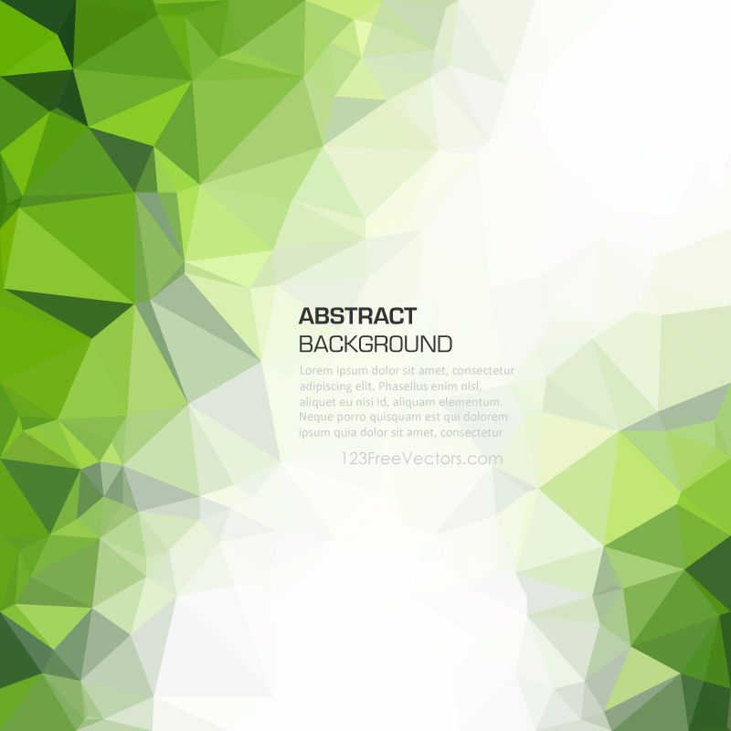 Green Abstract Geometric Polygon Background Image Background