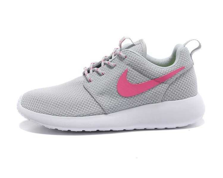 nike roshes pink and grey