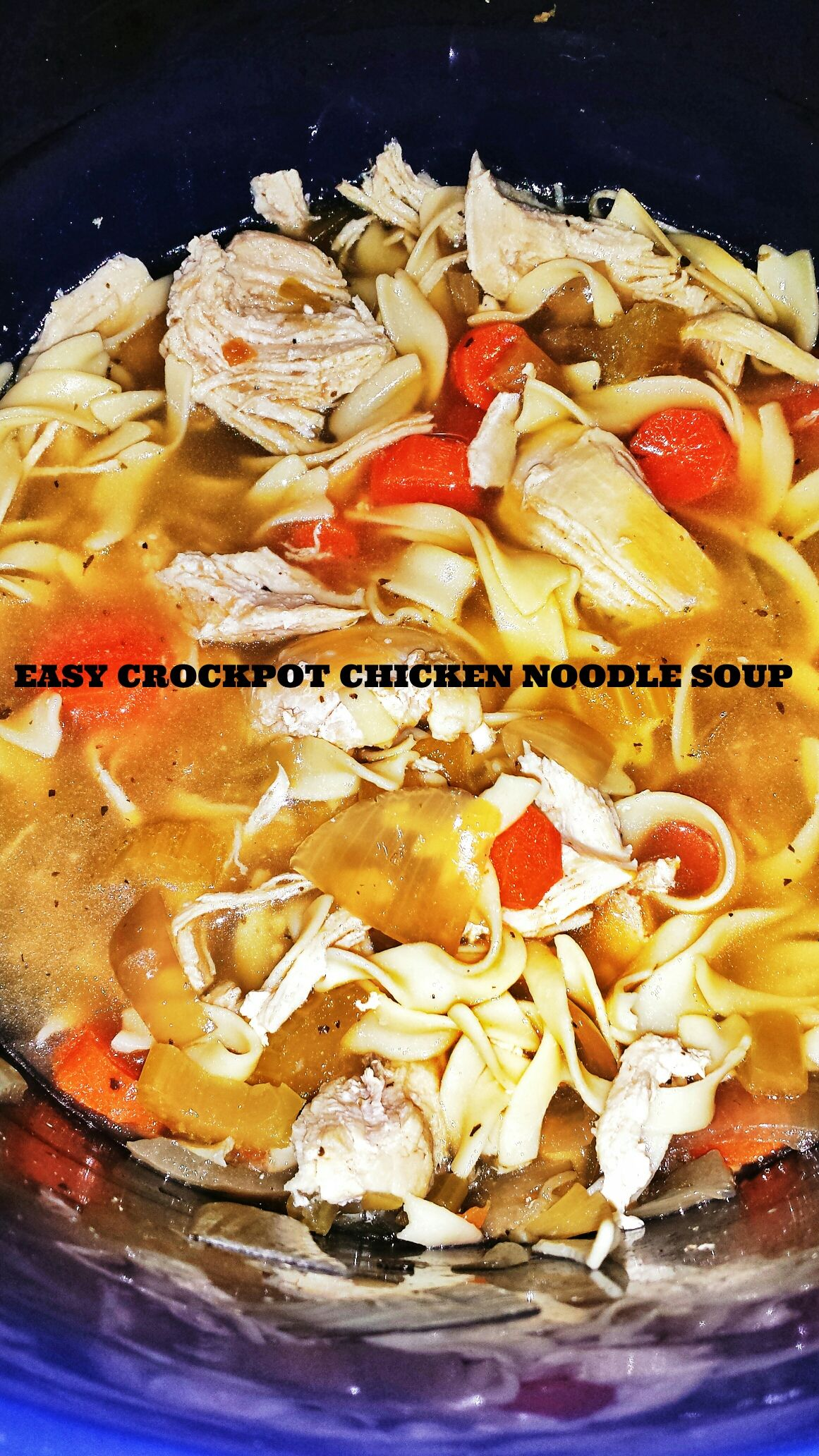 easy crockpot chicken noodle soup slow cooker chicken