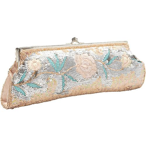 Eveningbags Handbags Moyna Beaded Evening Clutch Taupe