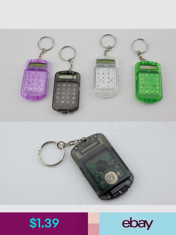 Plastic Pocket Mini Digital LCD Display-Calculators Keyring Keychain Key Chain