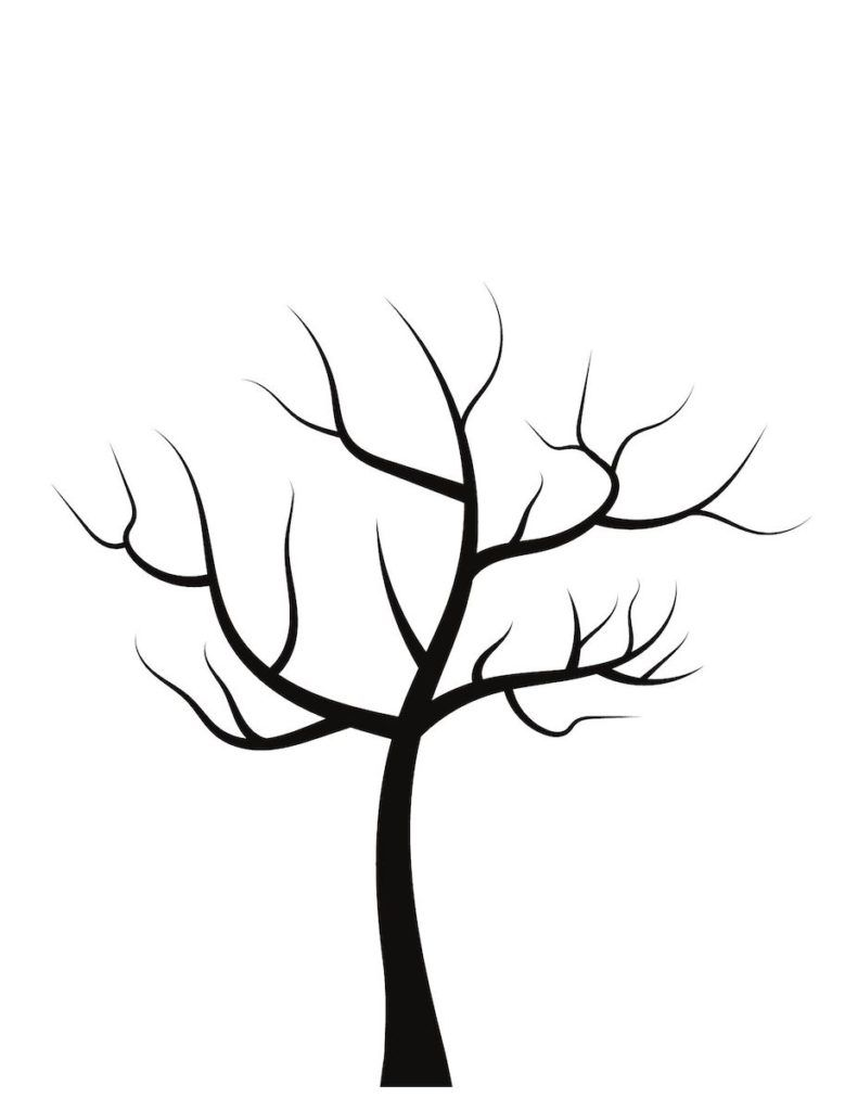 Free Blank Tree Template Printable For Kids Activities Perfect For Fall Activities For Toddlers A Tree Templates Fall Leaves Coloring Pages Tree Coloring Page