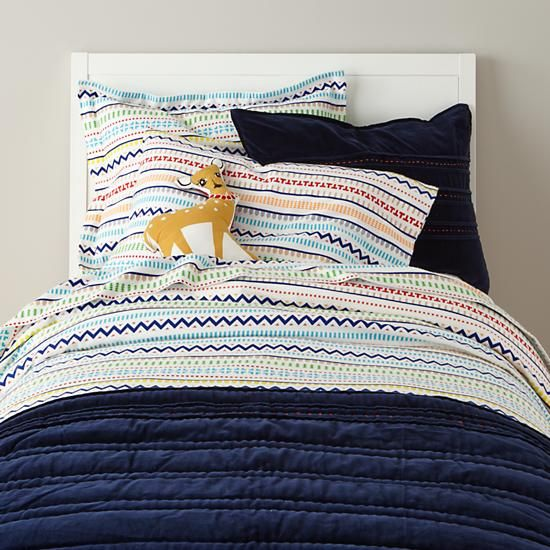 Full-Queen My Fair Isle Flannel Duvet Cover | The Land of Nod | In ...