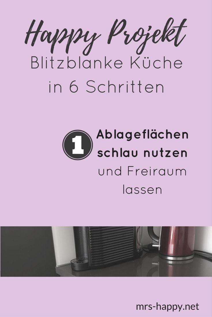 happy projekt blitzblanke strahlende k che in 6 schritten schritt 1 ablagefl chen schlau. Black Bedroom Furniture Sets. Home Design Ideas
