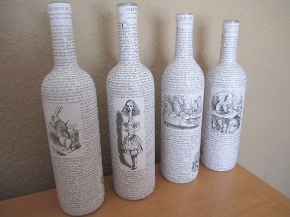 Table decoupage alice and wonderland google search halloween bottle art solutioingenieria Images
