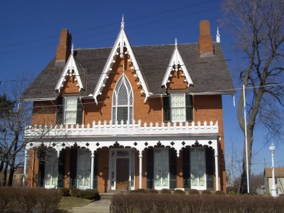 1847 gothic revival home mansfield ok house for Gothic revival house