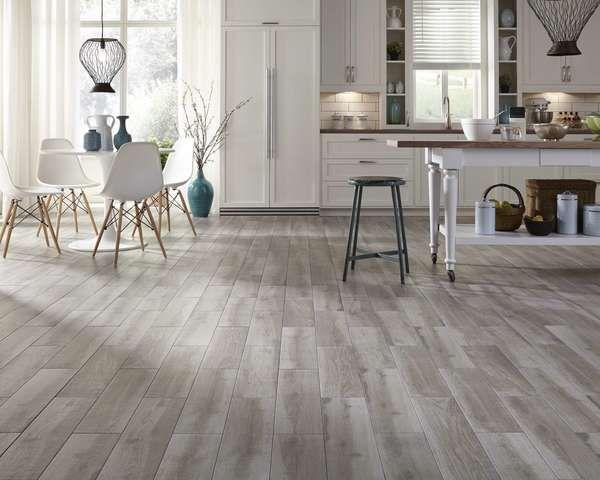 Resultado de imagen de cocinas con suelo madera gris cocina madera gris pisos y pisos de cocina - Ceramicos imitacion madera ...