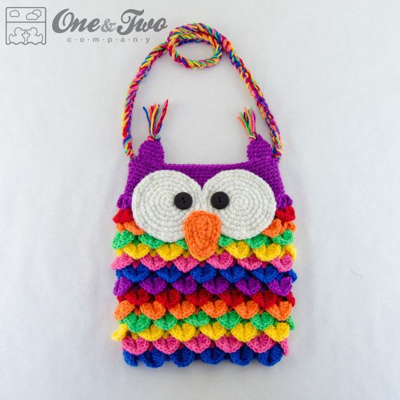 Colorful Owl Purse - PDF Crochet Pattern - Instant Download ...