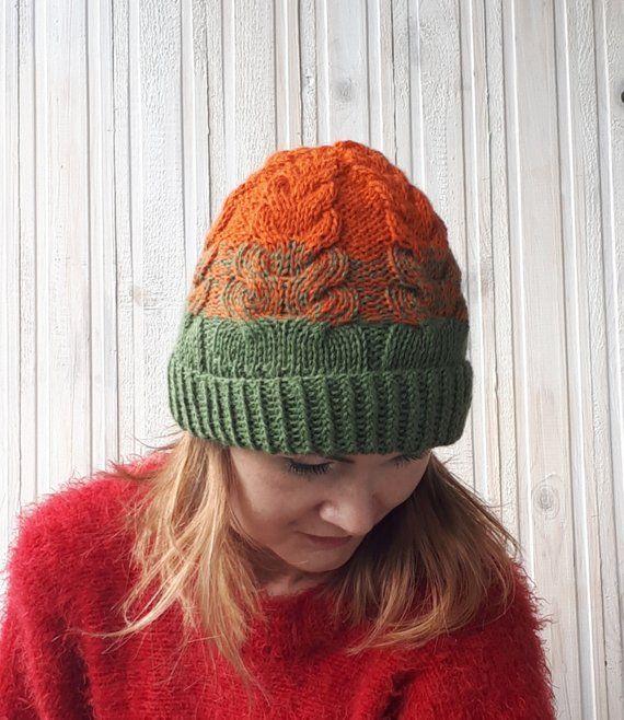 6ed8f9b585522 Orange beanie Green beanie Rainbow beanie Women s hat Sunflower hat Winter  hat Alpaca hat Alpaca bea