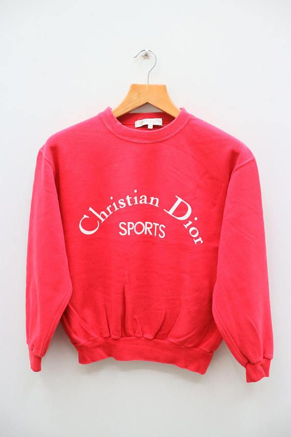 Vintage CHRISTIAN DIOR Sports French Fashion Designer Red