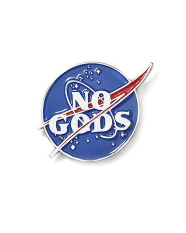 No Gods Lapel Pin