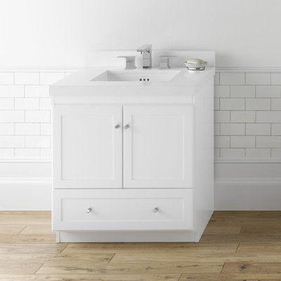 "Ronbow Modular Shaker 30"" Bathroom Vanity Cabinet Set  Wayfair Extraordinary 30 Bathroom Vanity With Drawers Inspiration Design"