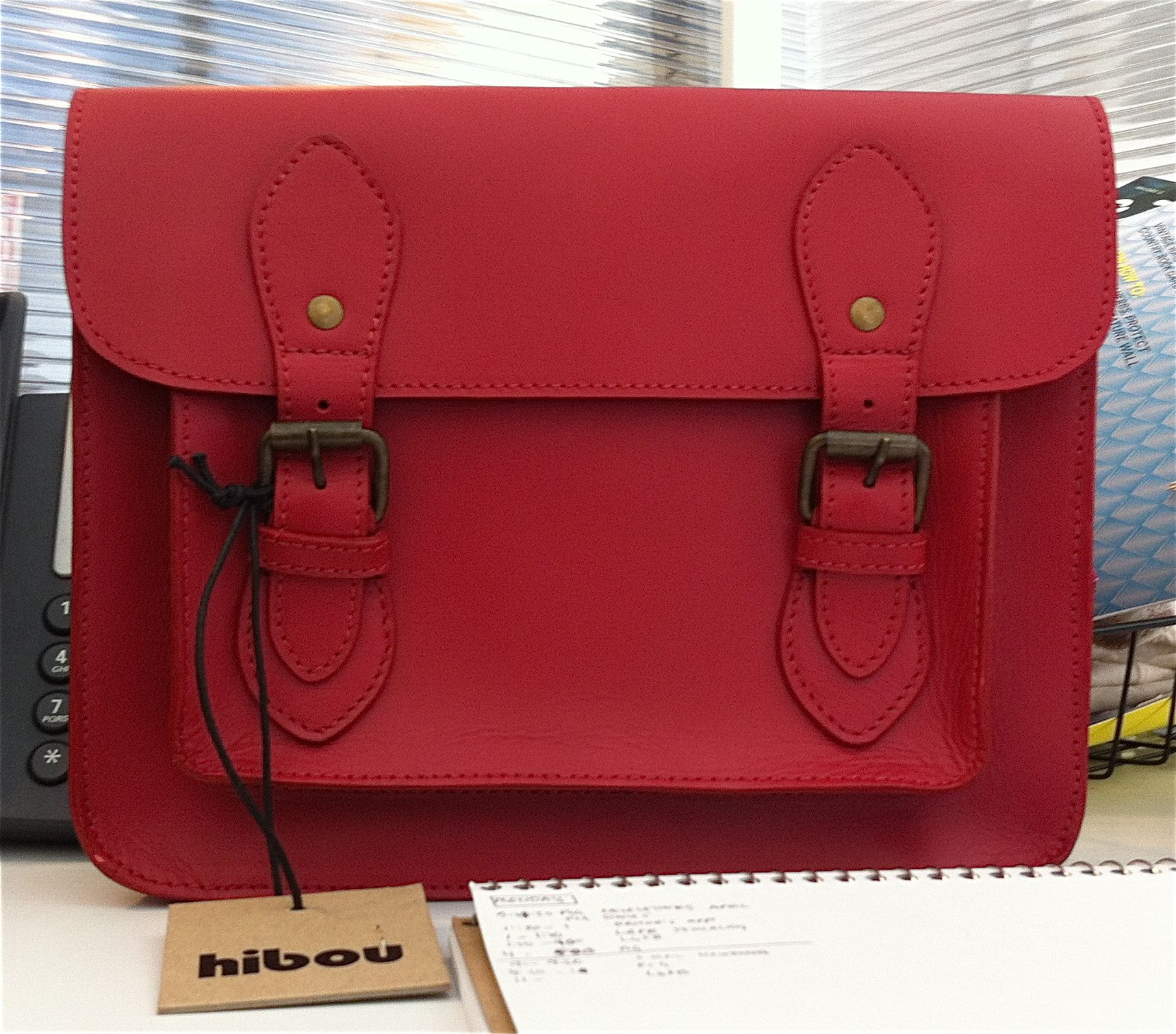 Bag Week: Red Leather Hibou Satchel | Satchels, Red leather and Bag