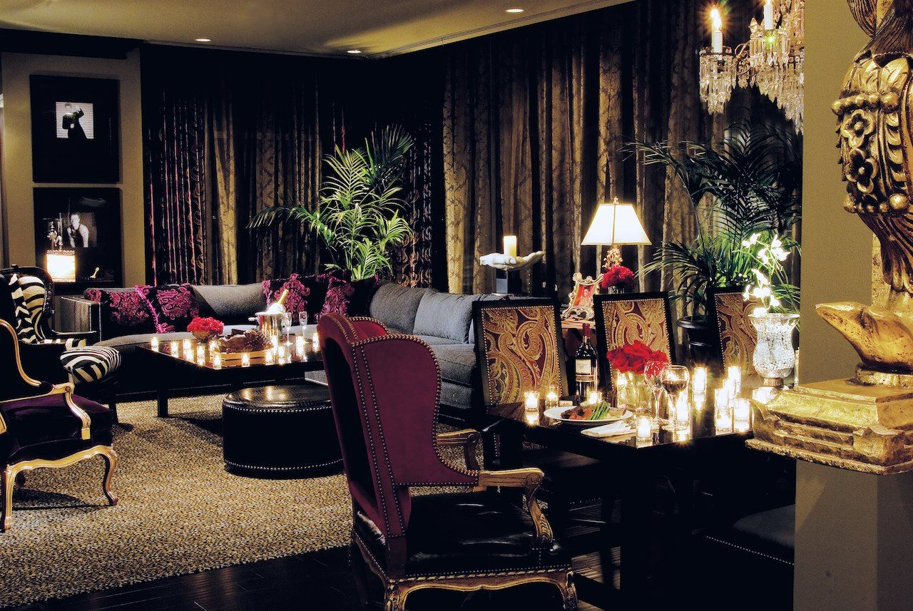 Hotel zaza houston magnificent seven suite rock star - Two bedroom suites in houston tx ...