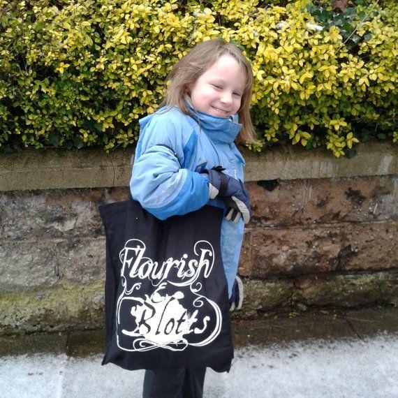 Flourish and Blotts Harry Potter Shopper Bag on Etsy, $27.32