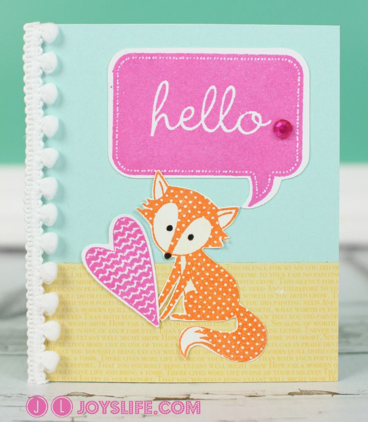 Card Making Ideas With Cricut Part - 26: Art Philosophy Cricut Cartridge Projects | Hello Fox Card With Cricut CTMH  Art Philosophy And Artiste