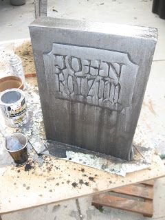 i thought id expand on my john rozum gravestone homage created as a thank you for his fun one with my name last year