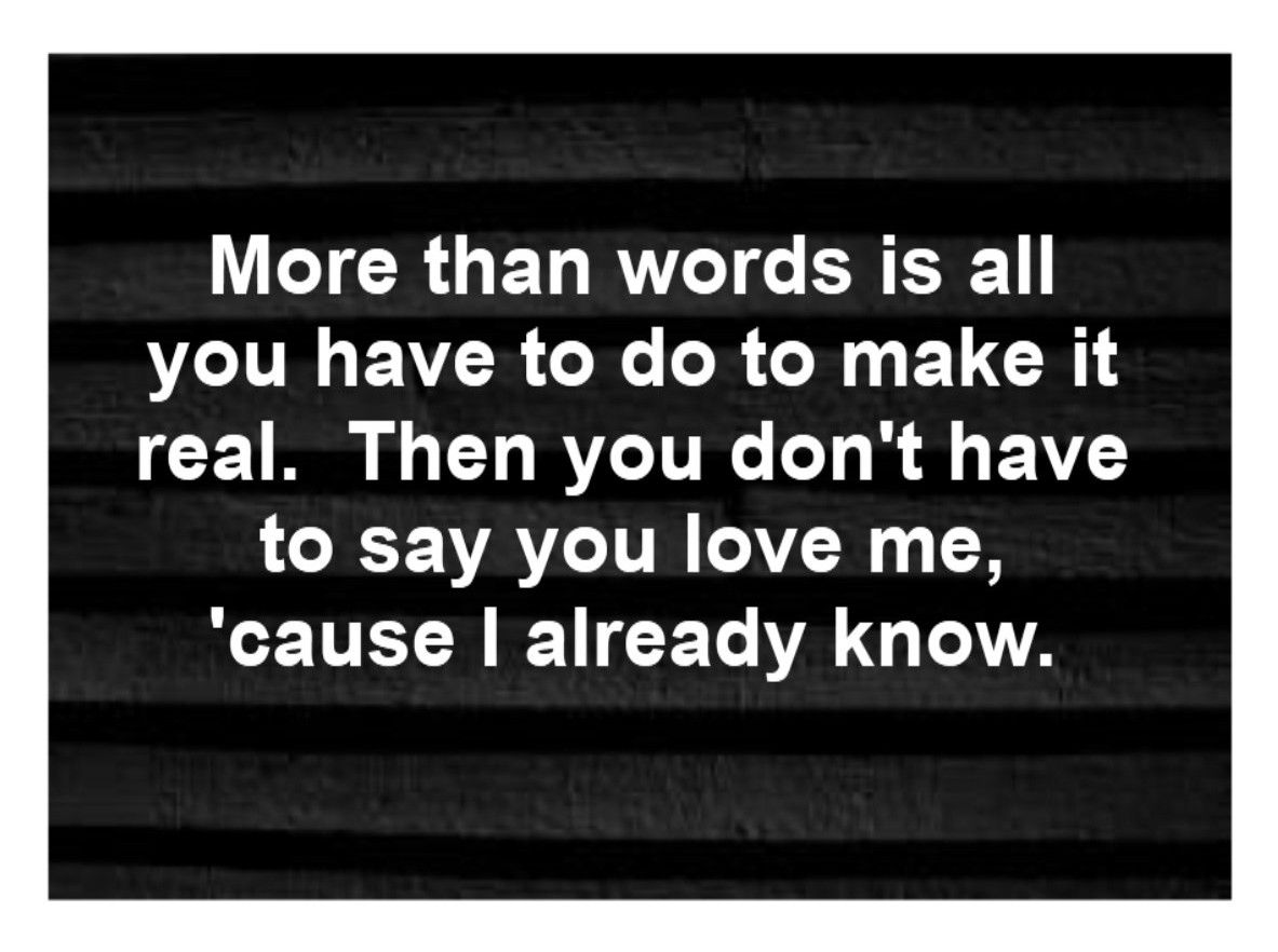 extreme more than words song lyrics song quotes