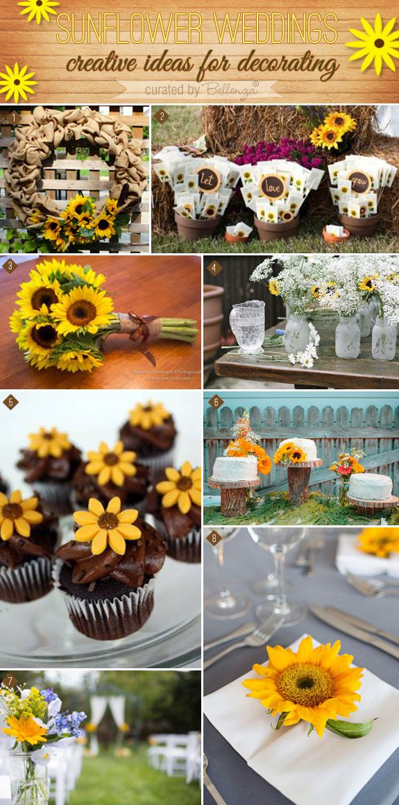 Sunflowers Lend 8 Creative Ways to Decorate a Rustic
