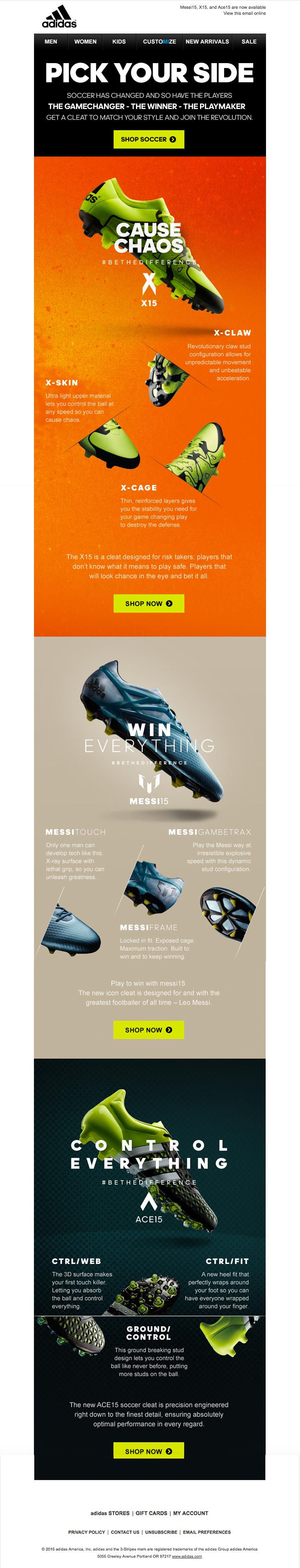 Redundante otoño Visión  adidas. #newsletter. #emailers. Bundle of Ideas.   Desain