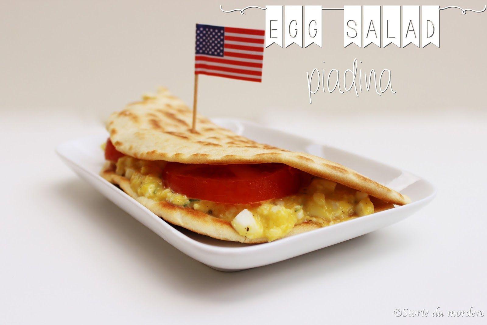 Egg salad piadina #insalata #uova