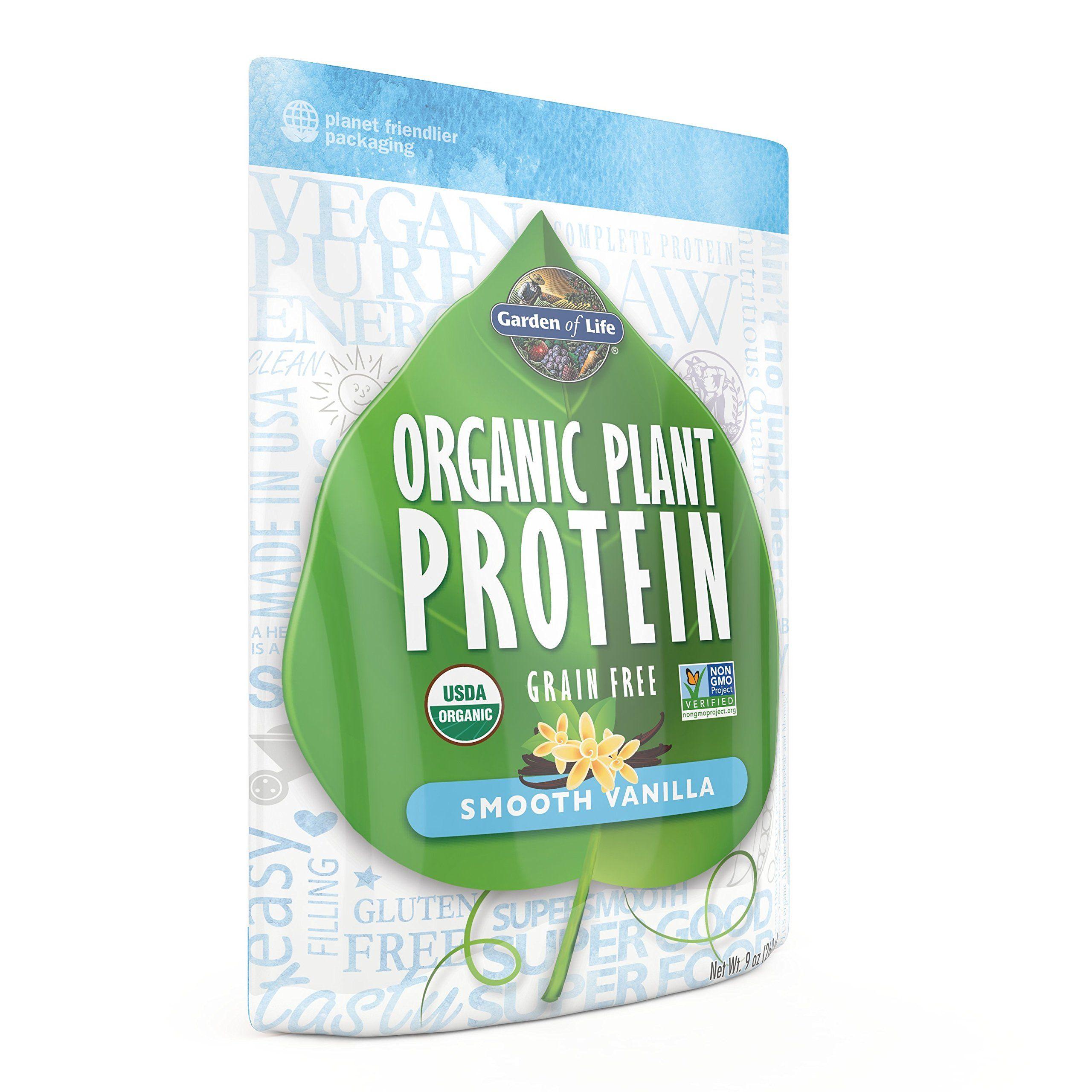 Garden of Life Organic Plant Protein, Smooth Vanilla, 260