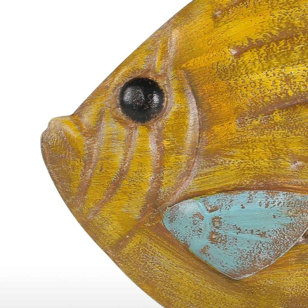 Light Yellow Fish Wall Decor Fish Wall Hanging Decor | Gift Ideas ...