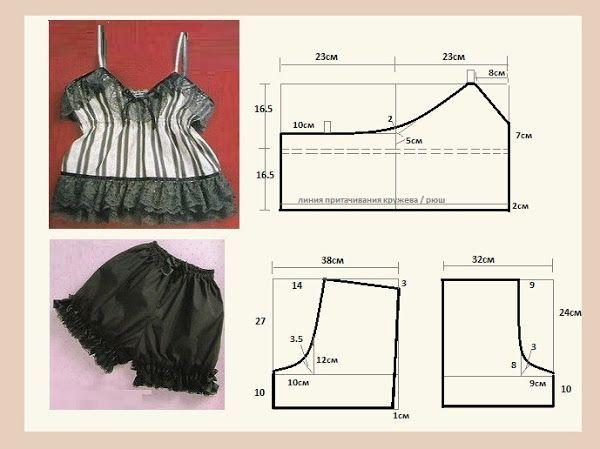 Pjs , patterns instructions, lingerie