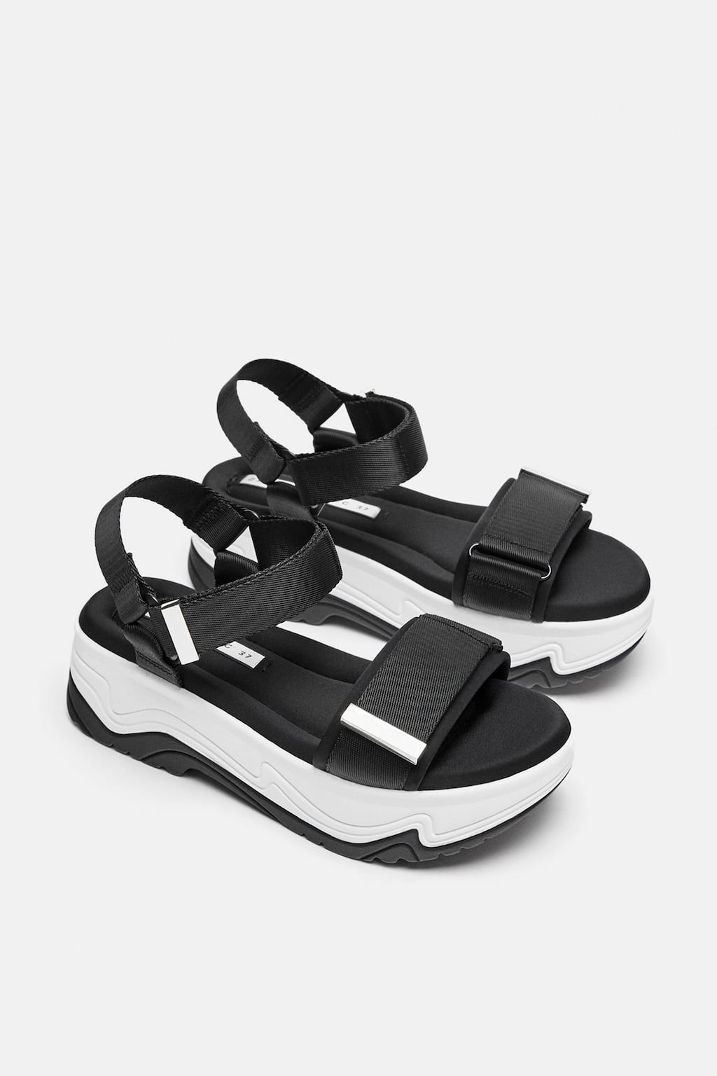 Image 4 Of Wedge Sneakers From Zara Sandalet Topuklular Dolgu Topuklu Sandalet