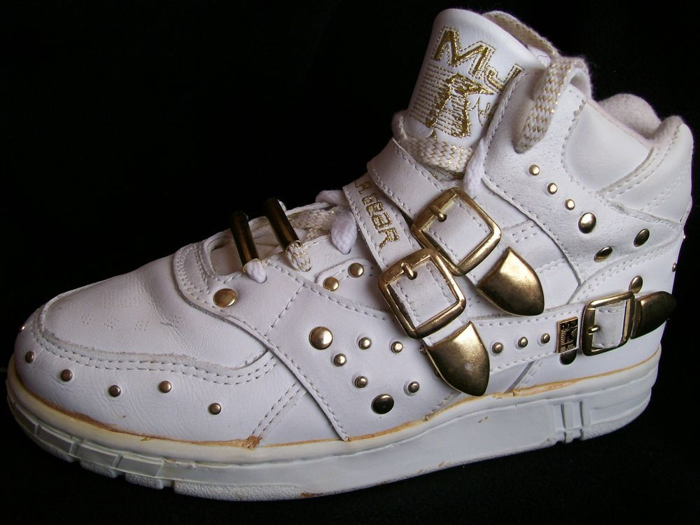 MICHAEL JACKSON TRAINERS SNEAKERS HIGH TOPs WHITE GOLD SHOES