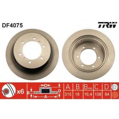 #Trw disco freno Cod Df4075  ad Euro 49.98 in #Autodoc #Trw