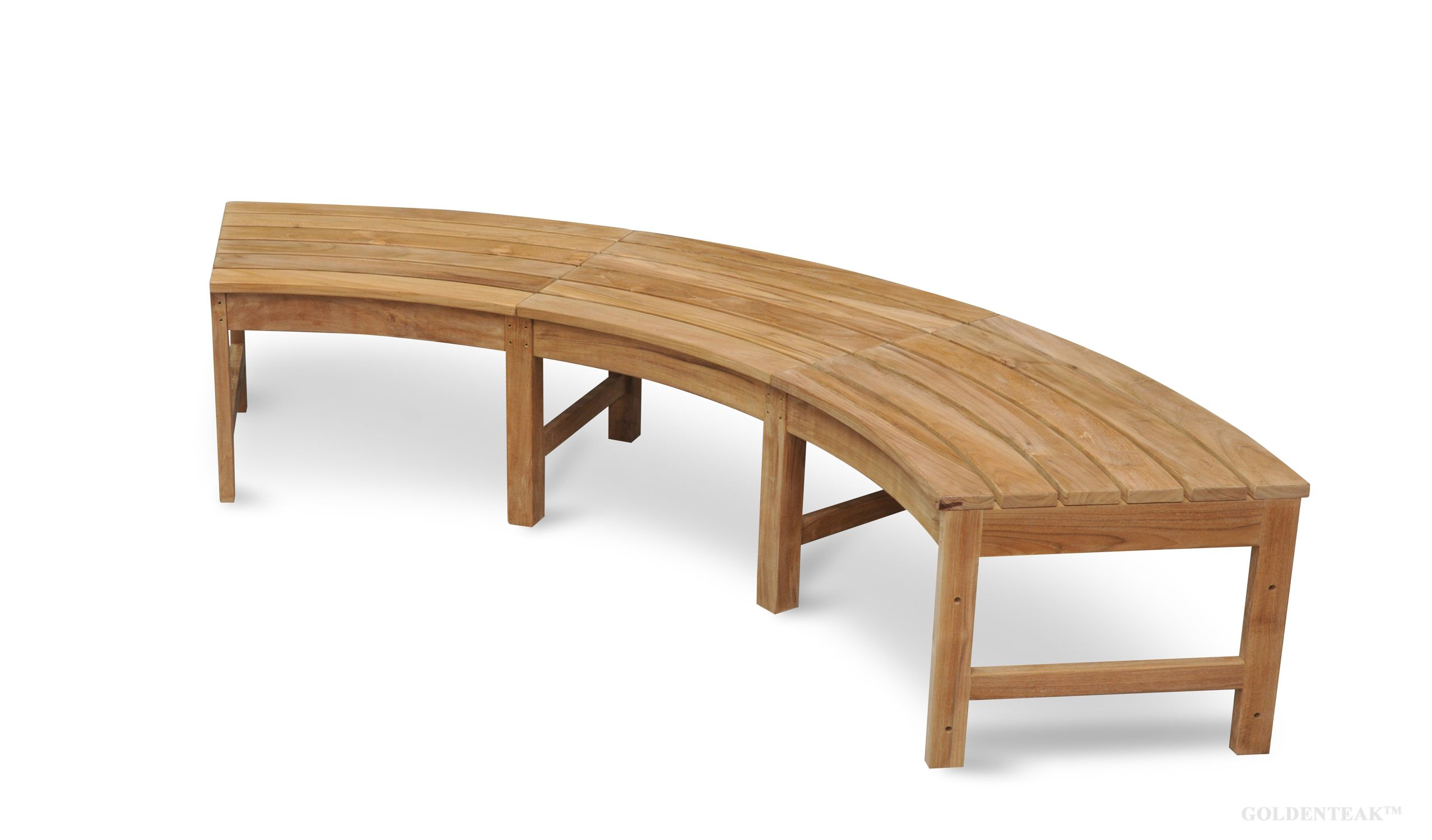 Terrific Westminster Teak Circular Curved Backless Bench 83 In W In Lamtechconsult Wood Chair Design Ideas Lamtechconsultcom