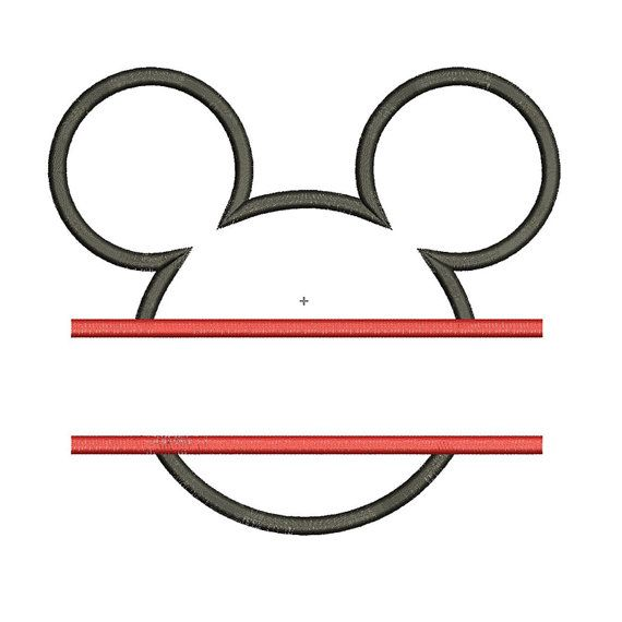 Instant Download Mickey Mouse Head Split by mysewcuteboutique, $2.50