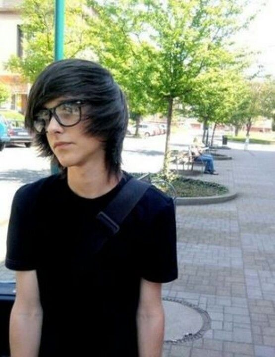 Emo boy with glasses
