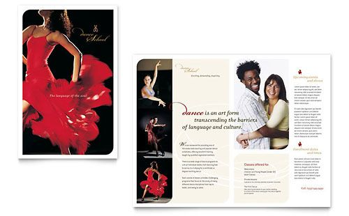 Dance brochure Design Pinterest Brochures and Brochure template - school brochure template