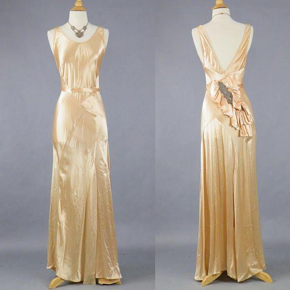 10839b09c92 1930s Bias Cut Gown