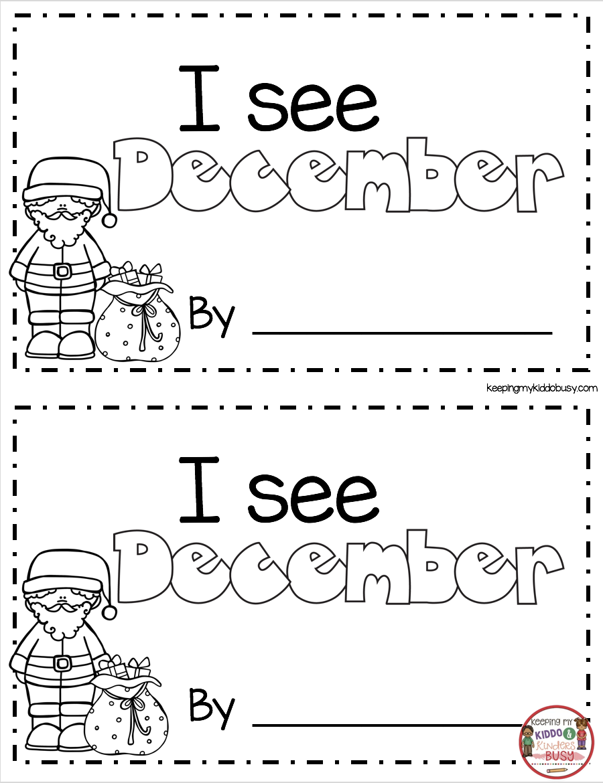 CHRISTMAS BOOK - Freebies - Kindergarten and First Grade Math and Readi…   Christmas  worksheets kindergarten [ 1170 x 900 Pixel ]