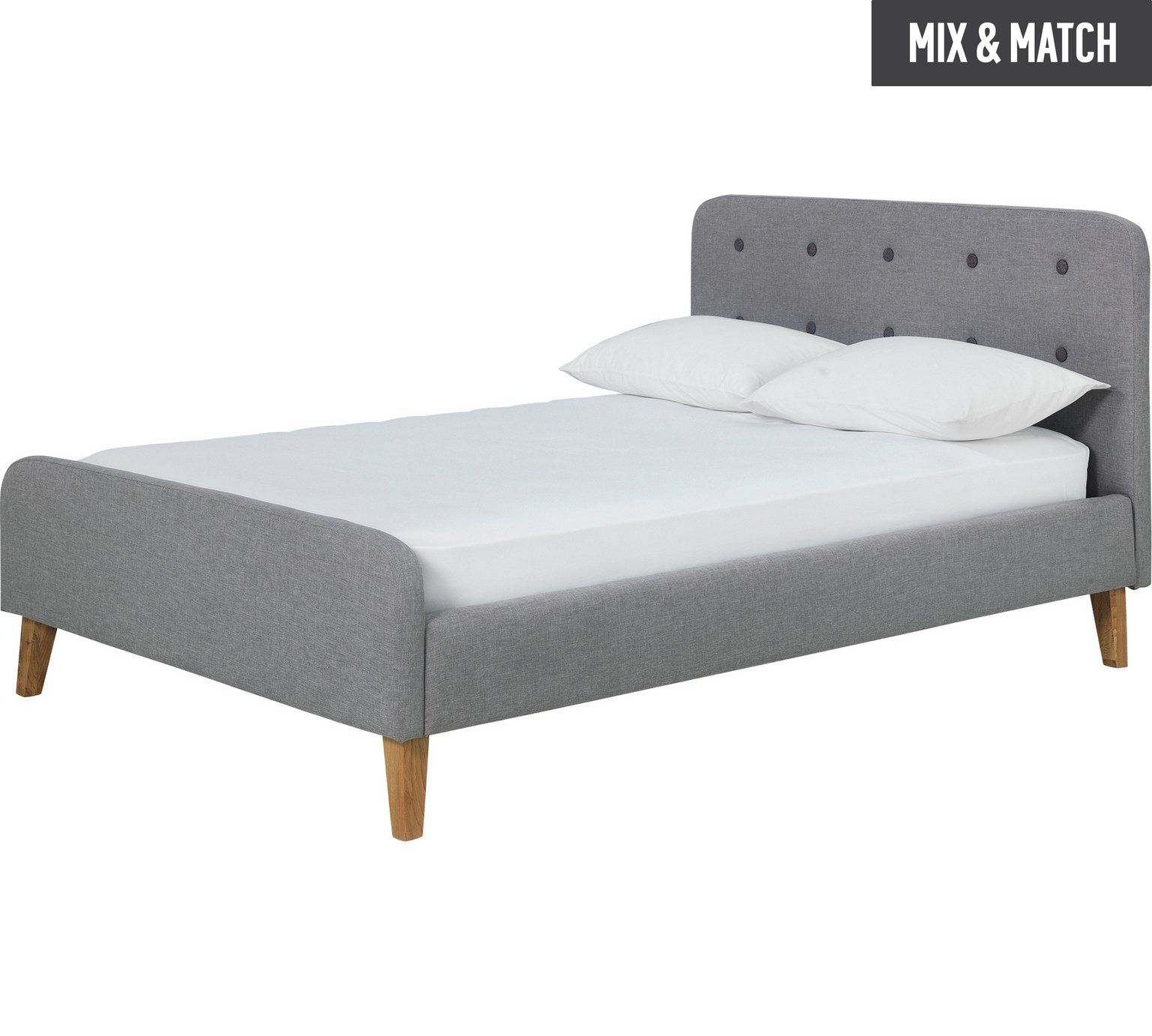 Buy Argos Home Ashby Small Double Bed Frame Grey Bed Frames Grey Bed Frame Small Double Bed Frames Bed Frame