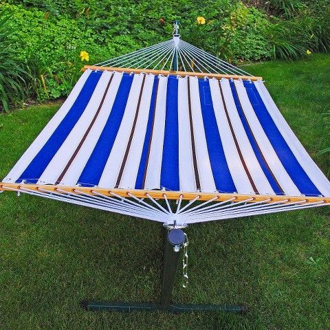 fabric hammock and stand set   blue  white fabric hammock and stand set   blue  white blue white   fabrics      rh   pinterest