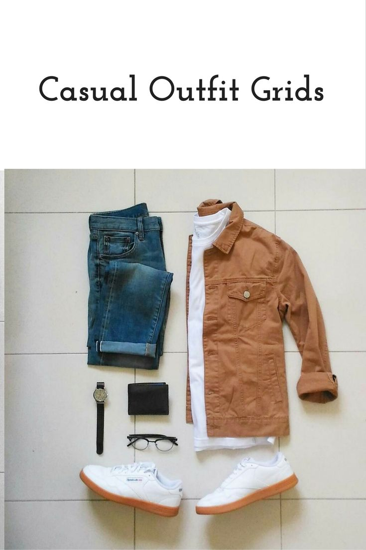 Casual Outfit Grids For Men Mens Fashion Style Casual Ideas For
