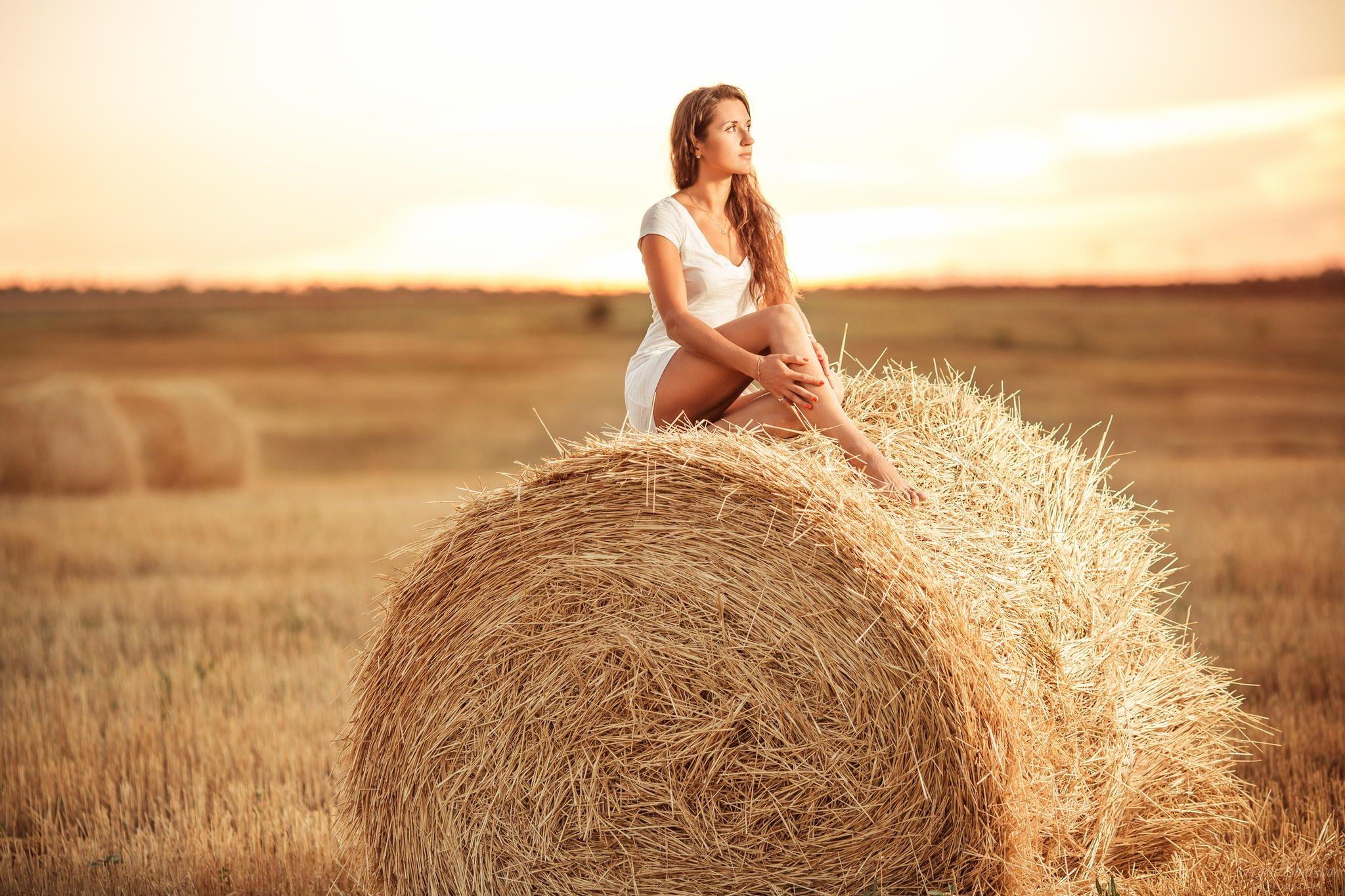 фотосессия со снопами в поле это просто