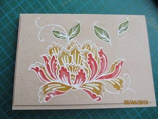 stampin up lotus blossom | Kaszazz Lotus Blossom Stamp and Distress Markers