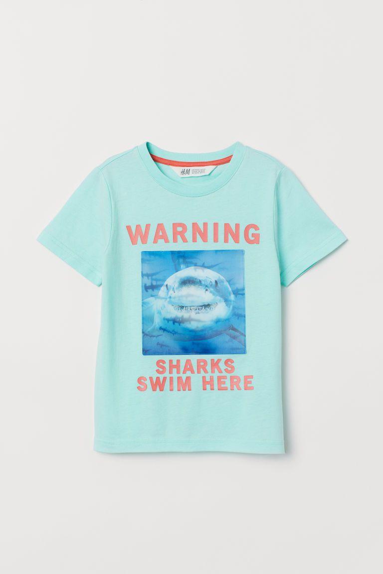 af09e241 T-shirt with Motif - Mint green/lenticular print - Kids   H&M US 2