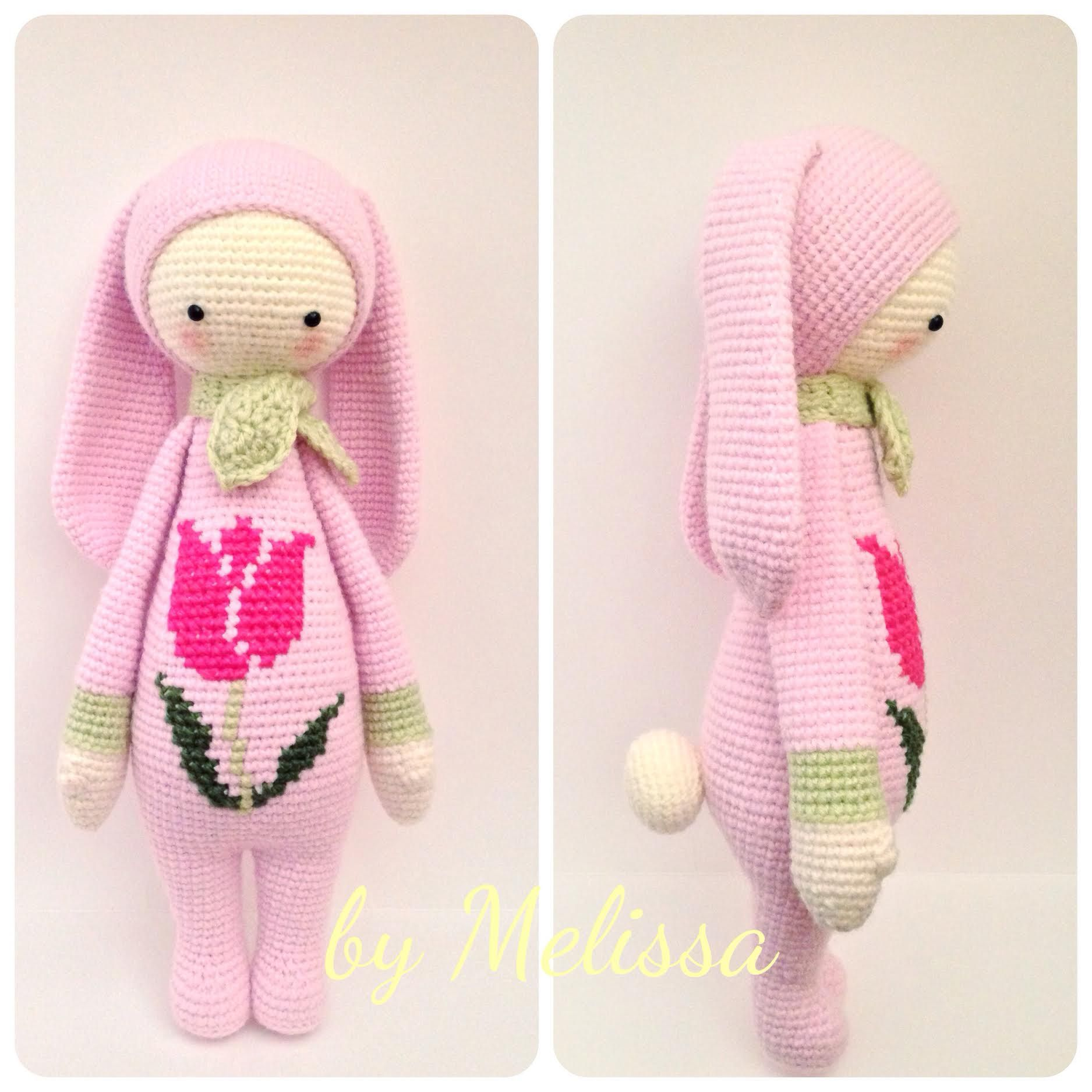 RITA the rabbit made by Melissa G. / crochet pattern by lalylala ...
