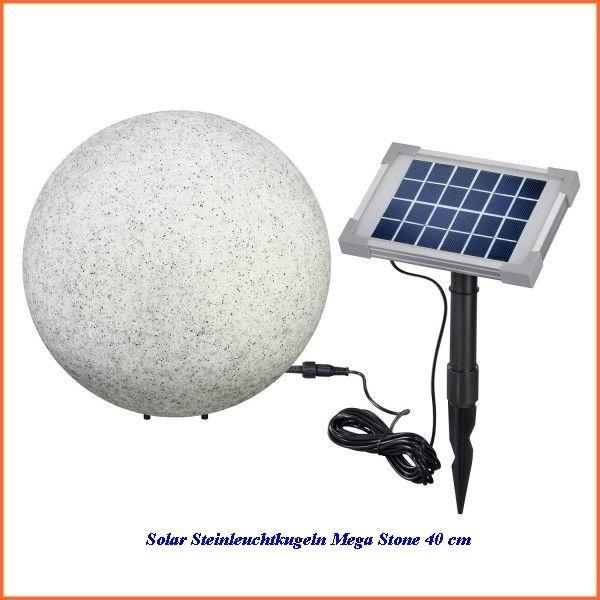 Solar Steinleuchtkugeln Mega Stone 40 Cm Durchmesser Mit Farbwechsel 106021 Kugelleuchten Led Solar