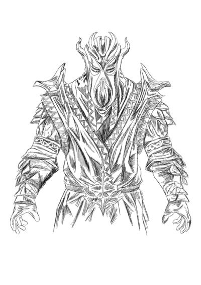female dragonborn coloring pages - photo#33