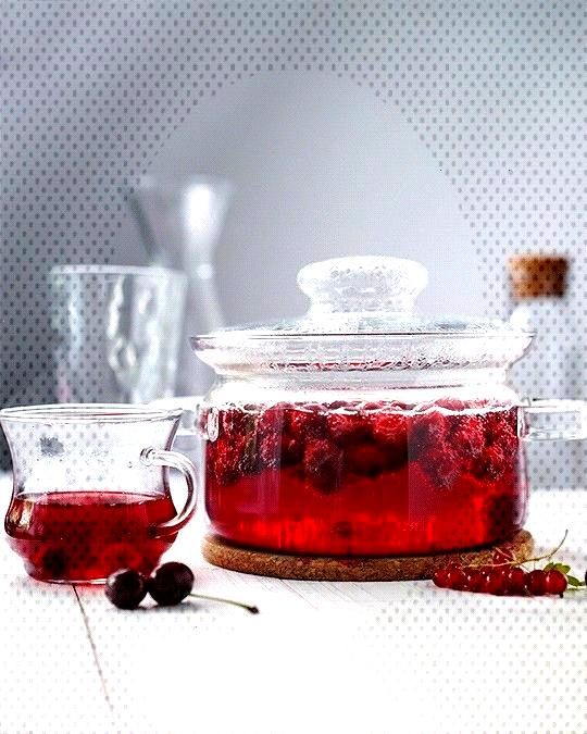 is what we do in russia, we boil berries with sugar and water and drink it hot or cold dependin...