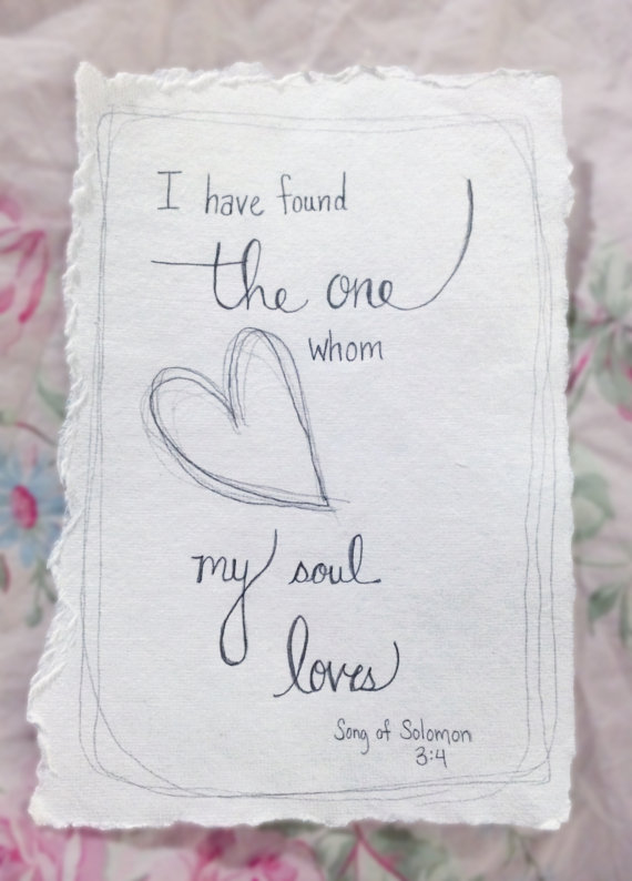 Custom Hand Drawn Scripture Art Song of by LovelyIntentions