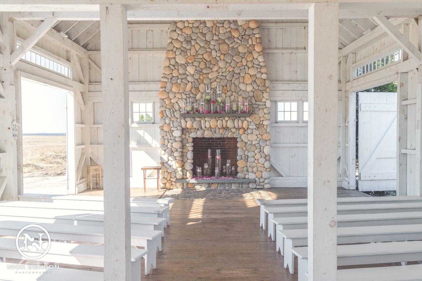 lbi beach theme wedding inside the chapel at bonnet island